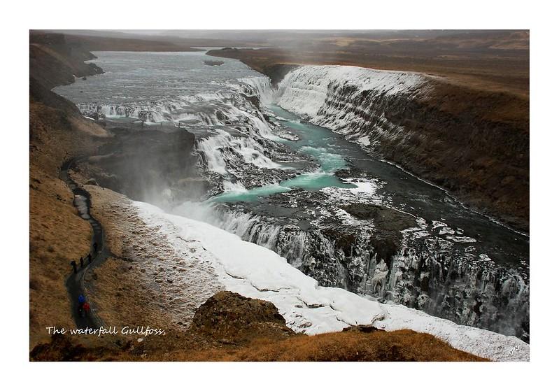 The waterfall Gullfoss