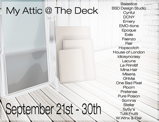 My Attic - September Edition - Starts MIDNIGHT