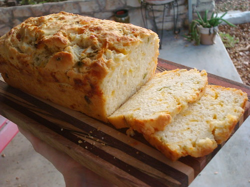 Cheesy Hatch Beer Bread