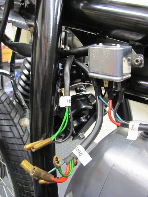 Starter Relay Headlight Wiring and Horn Wiring Branches