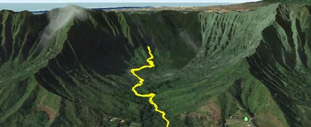 Hamama Falls Google Earth Image