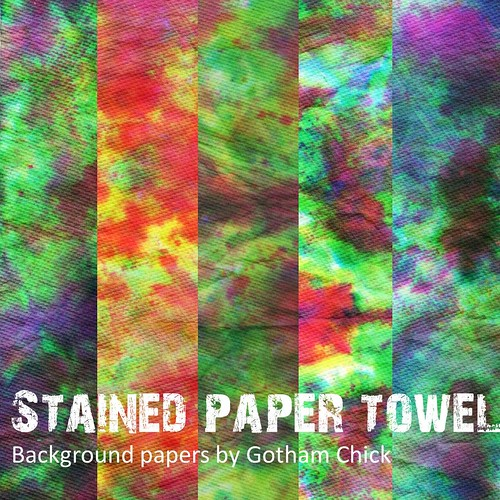 Digital Paper Pack: Stained Paper Towels