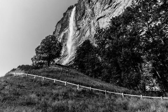 The path to Staubbach Falls, Switzerland