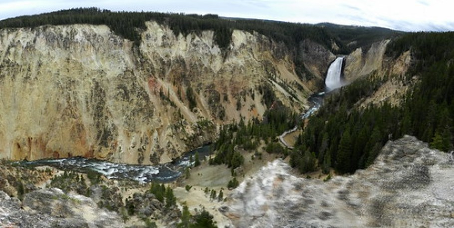 USA-Gran Cañon de Yellowstone 04 panoramica