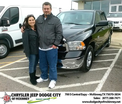 Thank you to Chris Craig on your new truck  from David Walls and everyone at Dodge City of McKinney! #NewCarSmell by Dodge City McKinney Texas