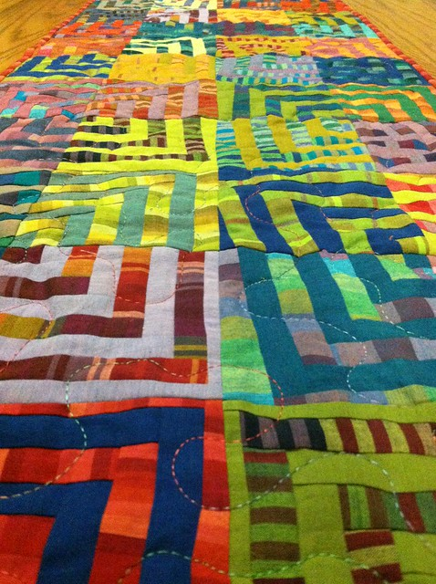 Crazy Squares Table Runner