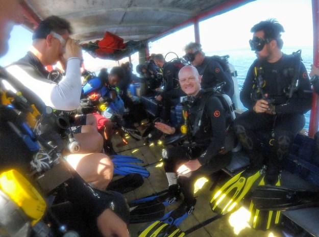 The dive boat. Komodo