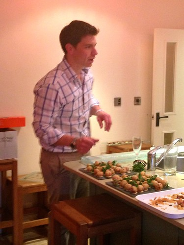Marcus Bean Making Canapes