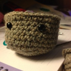 Pollen in progress but once I put eyes on it I think it wants to be something else. #crochet #amigurumi