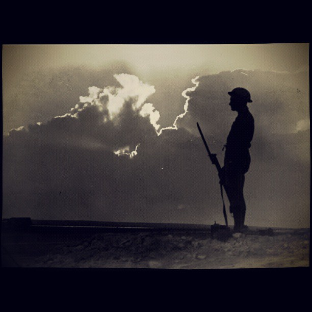 Lone Australian Soldier on Watch, El Alamein Egypt [1914]