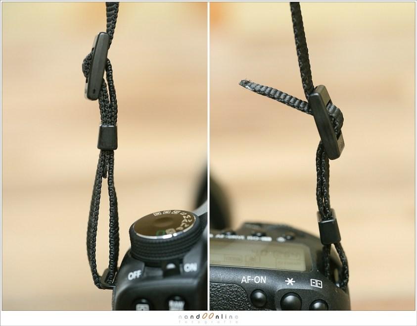 Bevestig je draagriem goed aan je camera