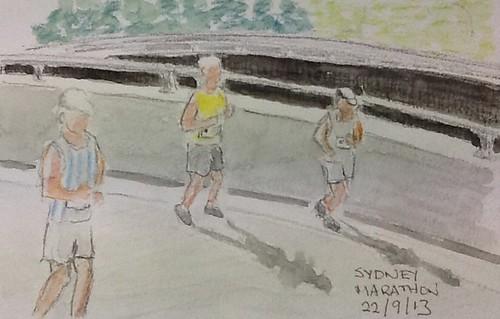 Sydney Marathon runners by Lionel G King