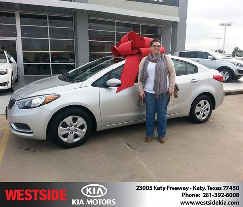 Thank you to Roscann Pair on your new 2014 #Kia #Forte from William Hadnott and everyone at Westside Kia! by Westside KIA