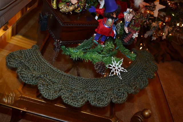 A leaf neck gaiter for my mother-in-law for Christmas