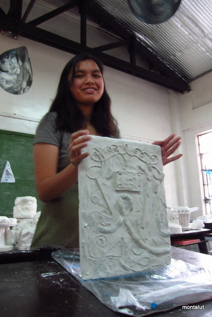 Plaster Relief - Clay mold