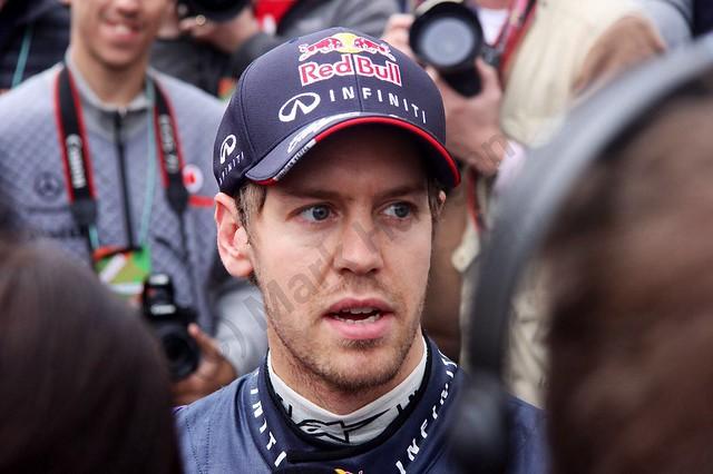 Sebastian Vettel at Formula One Winter Testing 2014