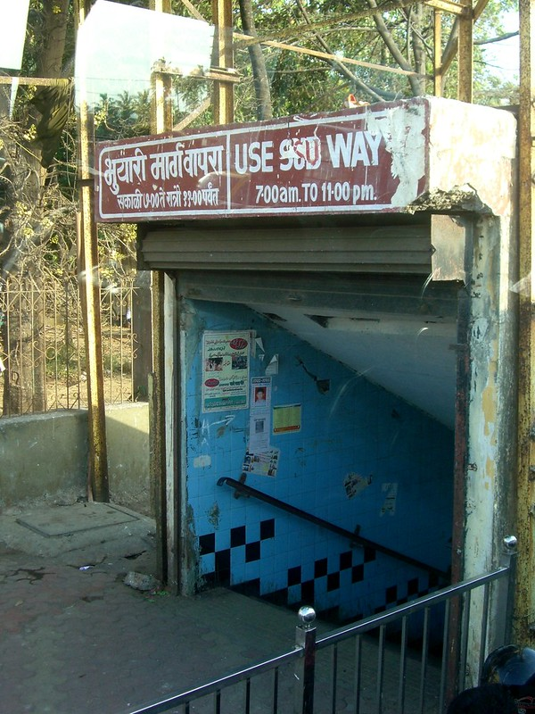 India Mumbai Entrance to Subway