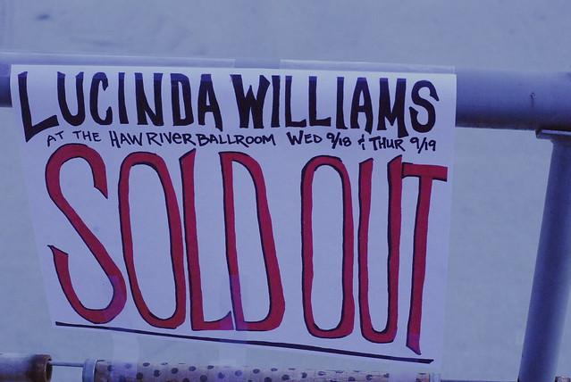 lucinda williams @ haw river ballroom