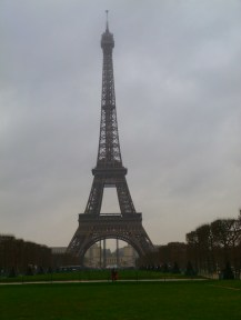 Grey Day Eiffel Tower