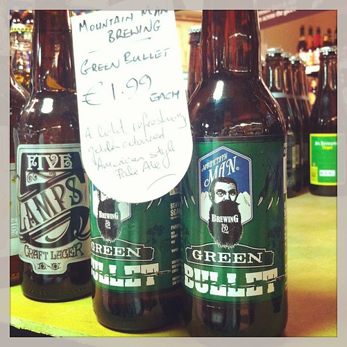 I just bought the last two bottles of @mountainmanbrewing #GreenBullet #beer from @bradleys_offlic #Mwahahaha #IrishBeer from #Cork #Ireland