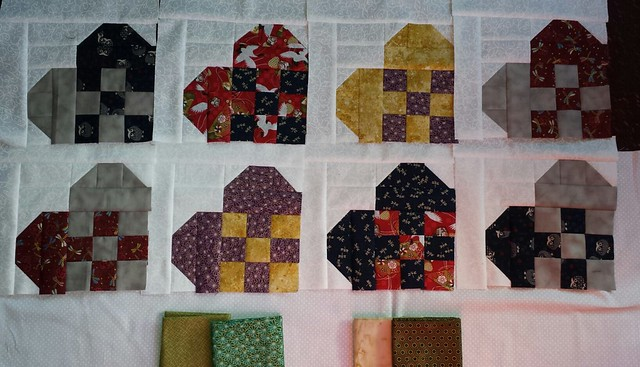 I'm still not sure I'm feeling the love for these fabrics using this block. #qulting