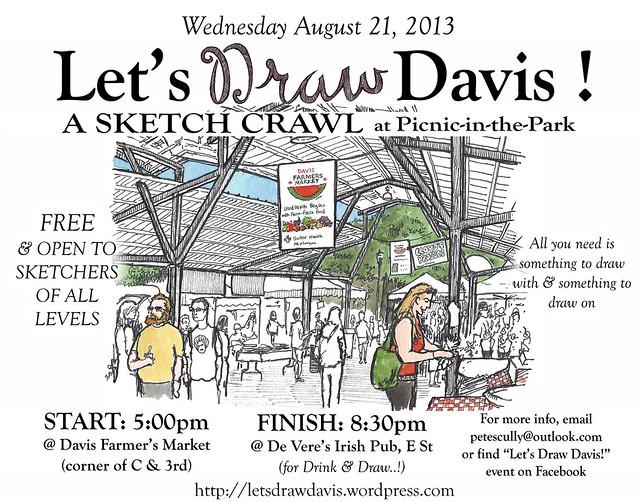 let's draw davis: august 21, 2013