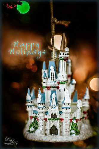 Image of a Cinderella Castle ornament