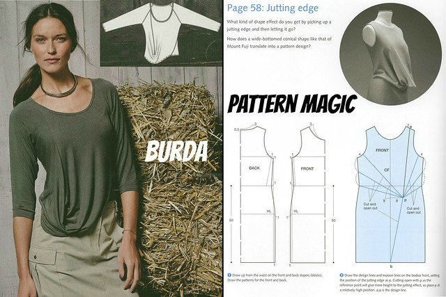 Burda Febuary 2014 versus Pattern Magic Jutting Edge 3