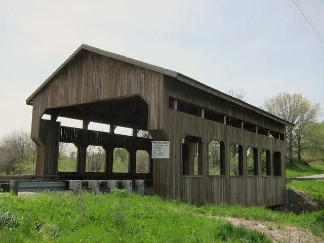 Covered bridge near Clark Center