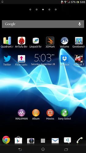 User Interface ของ Sony Xperia Z Ultra ไม่ได้ถูกปรับมาให้เหมาะกับหน้าจอ ใหญ่ ความละเอียดสูงเท่าไหร่ ไอคอนและตัวอักษรเลยดูเล็กลง
