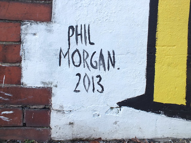 Phil Morgan street art for Empty Walls Festival