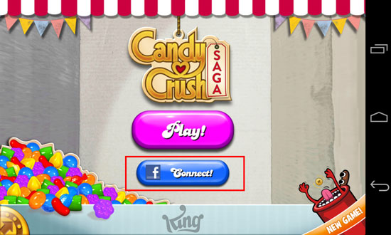Candy Crush Saga: Tips how to change your facebook account using Android devices Step 3