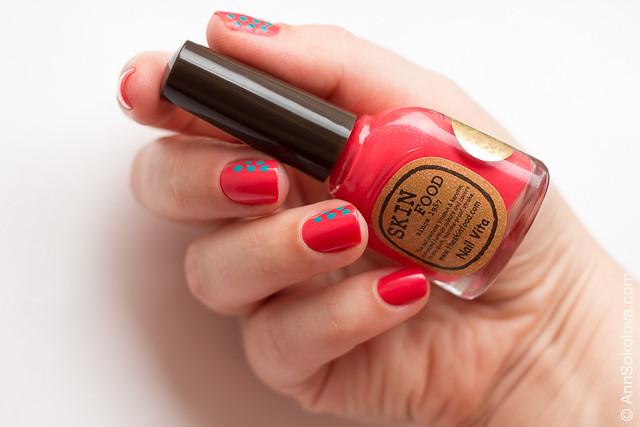 05 Skin Food nail Vita red RE108 blue BL514 Ann Sokolova swatches