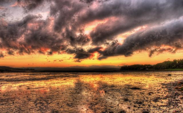 Sunset and sky over Mosvik