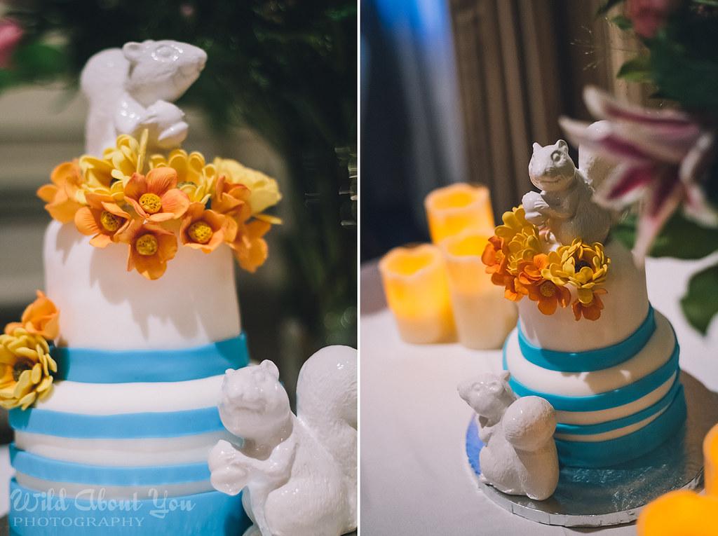 squirrel wedding cake