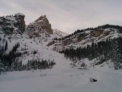Skitour Großer Jaufen kurz vor der Bachüberquerung