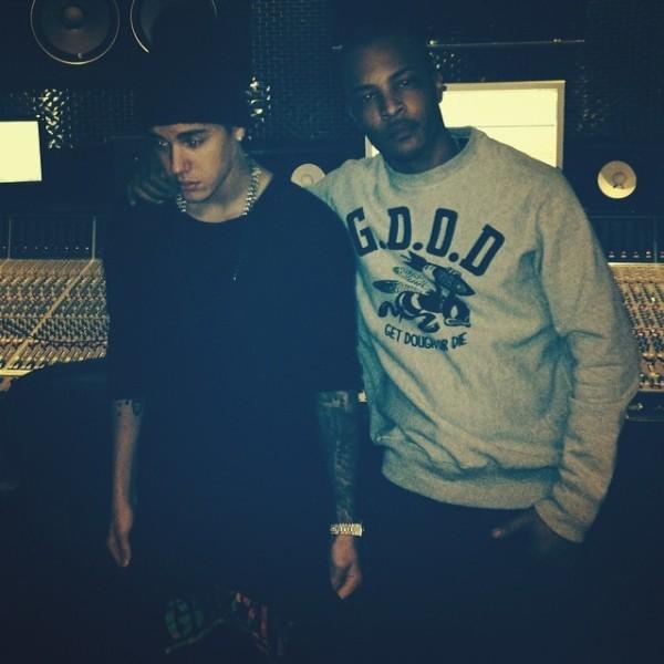 Justin Bieber και T.I. στο studio