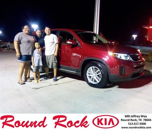 Thank you to Nicole Acosta on your new 2014 Kia Sorento from Fidel Martinez and everyone at Round Rock Kia! by RoundRockKia