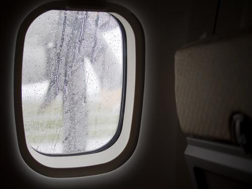 抵达目的地,虽然下雨但心中依然热血非凡