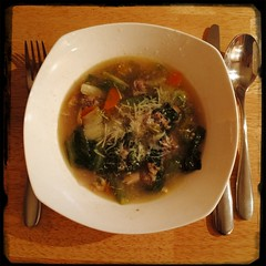 #Success The #ItalianWeddingSoup #Chicken soup w/ #Escarole and #Meatballs turned out awesome!