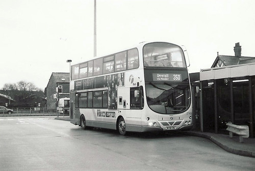 A Volvo B9TL about to load on a part working of the 350's Sunday service.
