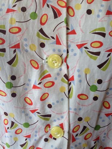 Liberty print Simplicity 5232 buttons