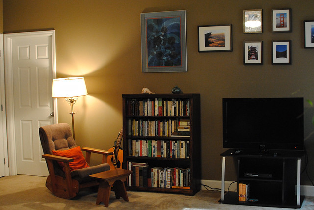 Books and Chair and Guitar