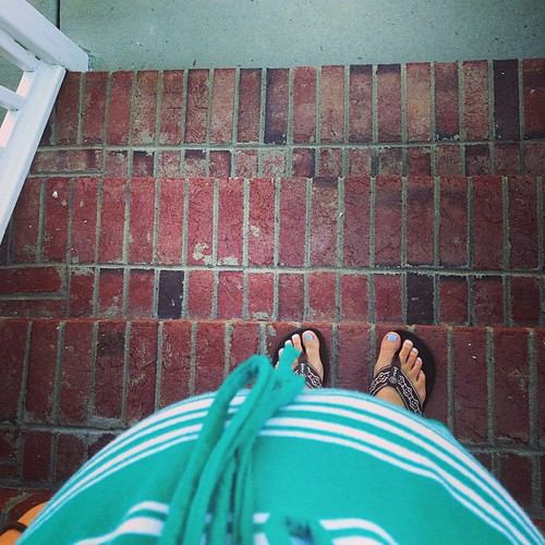 The view from here: I can still see my feet, barely.  #28weeks
