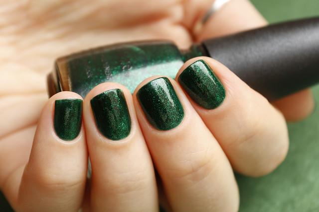 08 China Glaze Emerald Sparkle swatches