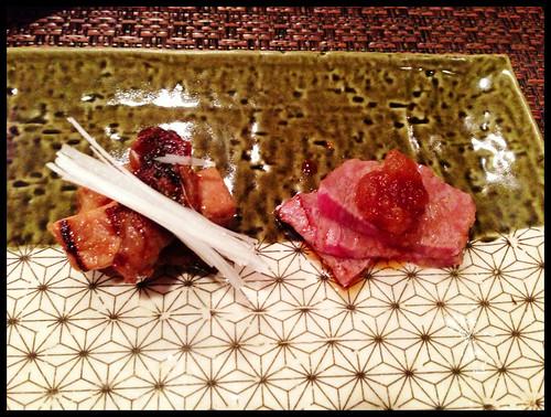 Grilled Toro, Grilled Miyazaki Wagyu