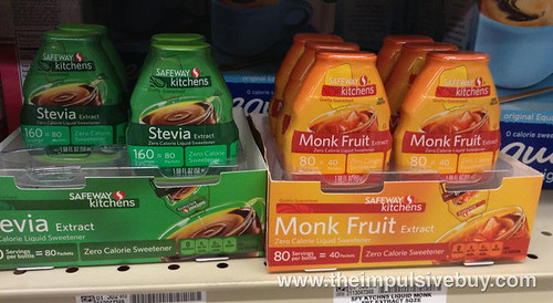 Safeway Kitchens Stevia and Monk Fruit Liquid Sweetners