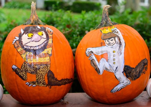 Where The Wild Things Are Painted Pumpkins