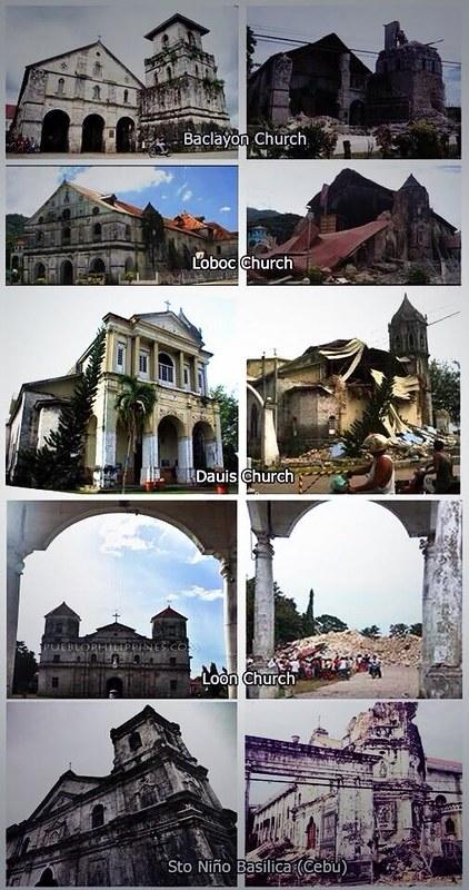 Cebu Bohol 7.2 Magnitude Earthquake Damages