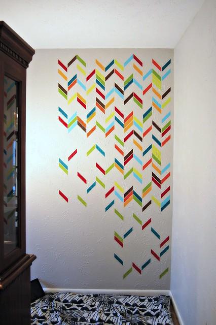 Herringbone Shuffle Stencil WIP